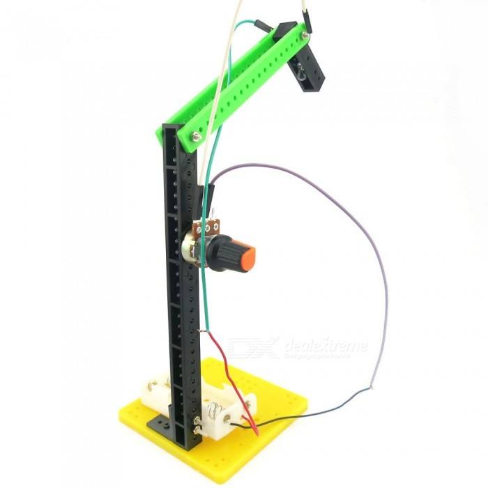 DIY Hand-assembled Small Desk Lamp Educational ToyEducational Toys<br>Form  ColorGreen + Black + Multi-ColoredMaterialPlasticQuantity1 pieceSuitable Age 8-11 years,12-15 years,Grown upsPacking List1 x Small table lamp kit toy<br>