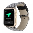 Denim kangas ja nahkahihna Watch Band Hihna Apple Watch 42mm