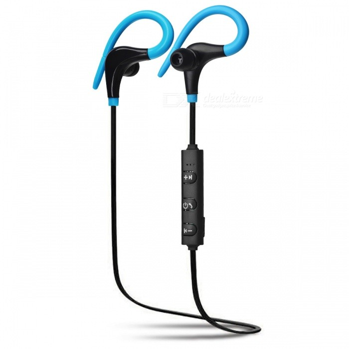 ZHAOAYAO Sports Bluetooth Waterproof Earhook Earphone - BlackHeadphones<br>Form  ColorBlack + BlueBrandOthers,ZHAOYAOMaterialABSQuantity1 DX.PCM.Model.AttributeModel.UnitConnectionBluetoothBluetooth VersionBluetooth V4.1Bluetooth ChipX6Operating Range7-10mHeadphone StyleEarbudWaterproof LevelIPX4Applicable ProductsUniversalHeadphone FeaturesEnglish Voice Prompts,Long Time Standby,Volume Control,With Microphone,Lightweight,For Sports &amp; ExerciseSupport Memory CardNoSupport Apt-XYesFrequency Response20-20.000HZBuilt-in Battery Capacity 60 DX.PCM.Model.AttributeModel.UnitStandby Time180 DX.PCM.Model.AttributeModel.UnitTalk Time4-6 DX.PCM.Model.AttributeModel.UnitMusic Play Time4-6 DX.PCM.Model.AttributeModel.UnitPacking List1 x Sports headset1 x Charging line1 x Earmuffs1 x Instruction<br>