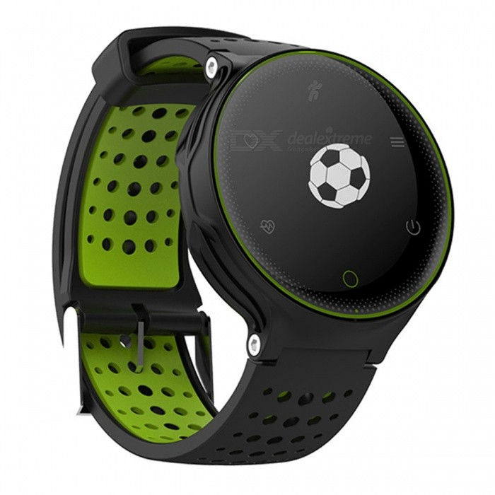 Eastor X2 Bluetooth Smart Watch Heart Rate Monitoring - GreenSmart Watches<br>Form  ColorGreenModelX2Quantity1 DX.PCM.Model.AttributeModel.UnitMaterialPlasticShade Of ColorGreenCPU ProcessorNordic NRF51822Screen Size0.96 DX.PCM.Model.AttributeModel.UnitScreen Resolution/Touch Screen TypeOthers,OLEDBluetooth VersionBluetooth V4.0Compatible OSAndroid, IOSLanguageEnglishWristband Length25.6 DX.PCM.Model.AttributeModel.UnitWater-proofIP67Battery ModeReplacementBattery TypeLi-ion batteryBattery Capacity380 DX.PCM.Model.AttributeModel.UnitStandby Time180 DX.PCM.Model.AttributeModel.UnitPacking List1 x Smart Watch1 x Charging Cable1 x Manual<br>
