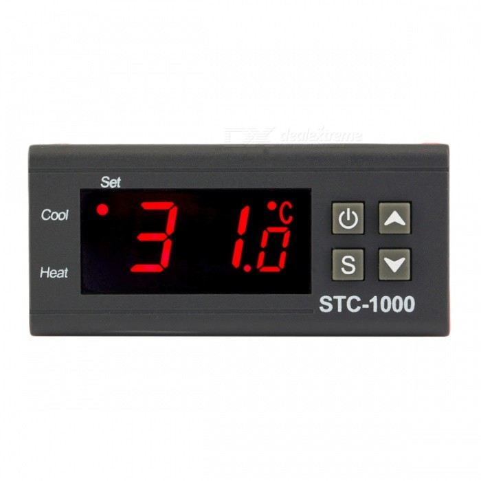 STC-1000 24V Two Relay Output LCD Digital Temperature ControllerTemperature Instruments<br>Form  Color24VModelSTC-1000Quantity1 DX.PCM.Model.AttributeModel.UnitMaterialPlasticScreen Size- DX.PCM.Model.AttributeModel.UnitCelsius Range-50 ° C ~ 99 ° CFahrenheit Range- DX.PCM.Model.AttributeModel.UnitAuto Power OffYesPacking List1 x Temperature Controller Thermostat1 x User Manual<br>