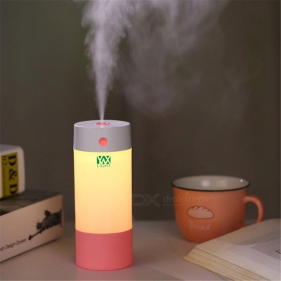 YWXLight Mini USB Ultrasonic Humidifier for Home Office - Pink