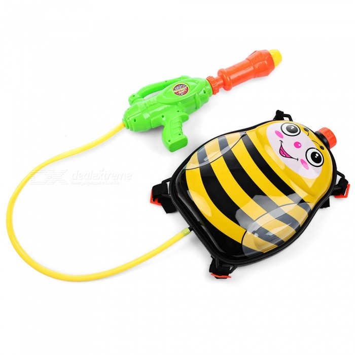 MAIKOU Honeybee Backpack Pressure Pump Squirt Gun - Mix ColorOther Toys<br>Form  ColorBlack + Red + Multi-ColoredMaterialABSQuantity1 pieceSuitable Age 6-9 months,9-12 months,13-24 months,12-15 years,Grown upsPacking List1 x Water Gun<br>