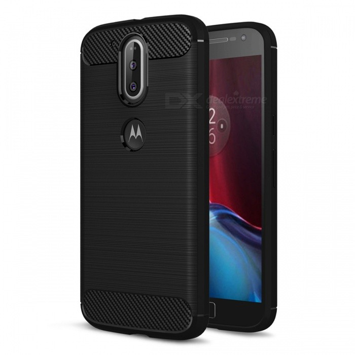 Dayspirit Wire Drawing Carbon Fiber TPU Case for Moto G4, G4 PlusTPU Cases<br>Form  ColorBlackModelN/AMaterialTPUQuantity1 pieceShade Of ColorBlackCompatible ModelsMoto G4, G4 PlusPacking List1 x Case<br>