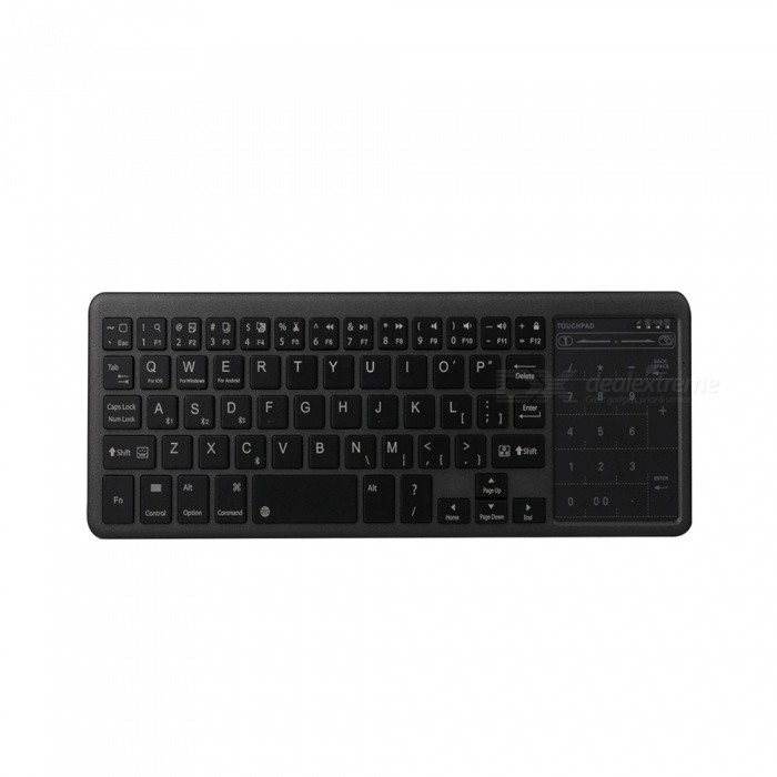 Mini Bluetooth Keyboard Touch Pad for iOS Windows Android EtcKeyboards<br>Form  ColorBlackModelFZ-BT12PMaterialABSQuantity1 DX.PCM.Model.AttributeModel.UnitSupported OSWindows, Android, iOS, Mac, LincxCompatible ModelscurrencyConnectionBluetoothKeys96Operating Range10 DX.PCM.Model.AttributeModel.UnitBuilt-in Battery Capacity 4000 DX.PCM.Model.AttributeModel.UnitCharging Time5-6 DX.PCM.Model.AttributeModel.UnitPacking List1 x Bluetooth keyboard1 x Micro usb cable1 x Maual<br>