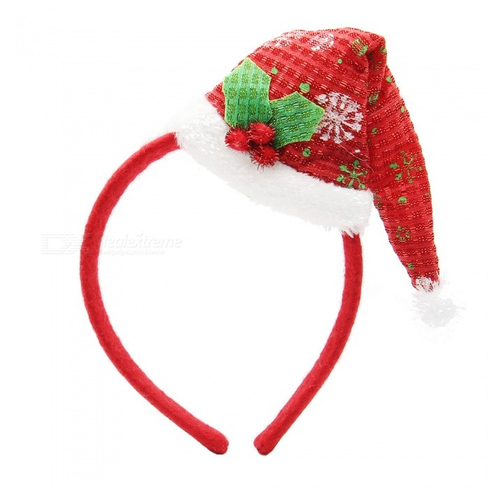 Adorable Headband Hair Band, Stylish Hair Hoop for Cosplay ChristmasChristmas Gadgets<br>Form  ColorRedMaterialSteel + flannelQuantity1 DX.PCM.Model.AttributeModel.UnitSuitable holidaysChristmasPacking List1 x Head band<br>