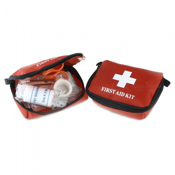 Multi-Function Outdoor First Aid 10-Piece Kit - Red (2 PCS / Group)First Aid<br>Form  ColorRedQuantity1 DX.PCM.Model.AttributeModel.UnitMaterialNylonBest UseClimbing,Rock Climbing,MountaineeringPacking List 2 x 10-in-1 First Aid Kits<br>