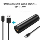 AUKEY 3-in-1 Kit with 5000mAh Quick Charge 3.0 Power Bank + 20cm Type-C Cable + 2m Micro USB Cable - Black