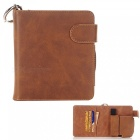 S1 protective pu leather e-cigarette bag case / cards holder - brown