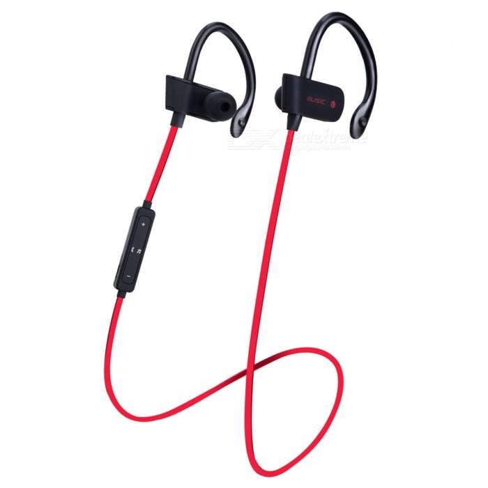 ZHAOYAO Sports Wireless Bluetooth 4.2 Ear Hook In-Ear Earphone - RedHeadphones<br>Form  ColorBlack + RedBrandOthers,ZHAOYAOMaterialPlasticQuantity1 setConnectionBluetoothBluetooth VersionBluetooth V4.1Headphone StyleBilateralWaterproof LevelIPX4Applicable ProductsUniversalHeadphone FeaturesPhone Control,Long Time Standby,Noise-Canceling,Volume ControlSupport Memory CardNoSupport Apt-XYesStandby Time160 hourTalk Time3-6 hourMusic Play Time3-6 hourPacking List1 x Bluetooth earphones1 x Charging cable<br>