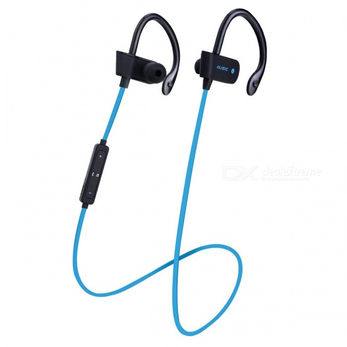 ZHAOYAO Sports Wireless Bluetooth 4.2 Ear Hook In-Ear Earphones - BlueHeadphones<br>Form  ColorBlack + BlueBrandOthers,ZHAOYAOMaterialPlasticQuantity1 DX.PCM.Model.AttributeModel.UnitConnectionBluetoothBluetooth VersionBluetooth V4.1Headphone StyleBilateralWaterproof LevelIPX4Applicable ProductsUniversalHeadphone FeaturesPhone Control,Long Time Standby,Noise-Canceling,Volume ControlSupport Memory CardNoSupport Apt-XYesStandby Time160 DX.PCM.Model.AttributeModel.UnitTalk Time3-6 DX.PCM.Model.AttributeModel.UnitMusic Play Time3-6 DX.PCM.Model.AttributeModel.UnitPacking List1 x Bluetooth earphones1 x Charging cable<br>
