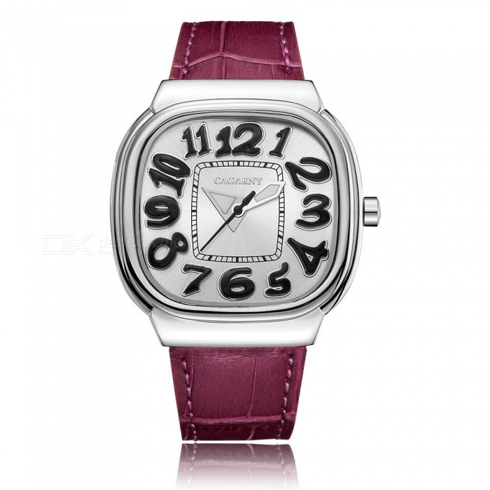 CAGARNY 6870 Fashion Large Dial Womens Quartz Watch - Deep PinkQuartz Watches<br>Form  ColorDeep Pink + SilverModel6870Quantity1 DX.PCM.Model.AttributeModel.UnitShade Of ColorPinkCasing MaterialAlloyWristband MaterialLeatherSuitable forAdultsGenderWomenStyleWrist WatchTypeFashion watchesDisplayAnalogBacklightNOMovementQuartzDisplay Format12 hour formatWater ResistantFor daily wear. Suitable for everyday use. Wearable while water is being splashed but not under any pressure.Dial Diameter4.5 DX.PCM.Model.AttributeModel.UnitDial Thickness0.98 DX.PCM.Model.AttributeModel.UnitWristband Length24 DX.PCM.Model.AttributeModel.UnitBand Width1.8 DX.PCM.Model.AttributeModel.UnitBatterySR626SW / 1PCPacking List1 x Watch<br>