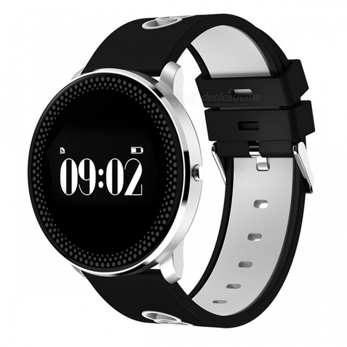 CF007 Round Dial Smart Bracelet with Heart Rate Monitor - GerySmart Bracelets<br>Form  ColorBlack + GreyModelCF007Quantity1 DX.PCM.Model.AttributeModel.UnitMaterialPlastic + glassShade Of ColorBlackWater-proofOthers,Conventional waterproofBluetooth VersionBluetooth V4.0Touch Screen TypeYesOperating SystemNoCompatible OSAndroid 4.0 and above ISO 7.0 and aboveBattery Capacity80 DX.PCM.Model.AttributeModel.UnitBattery TypeLi-polymer batteryStandby Time7 DX.PCM.Model.AttributeModel.UnitPacking List1 x Bracelet1 x Charging clip data line1 x Specification<br>