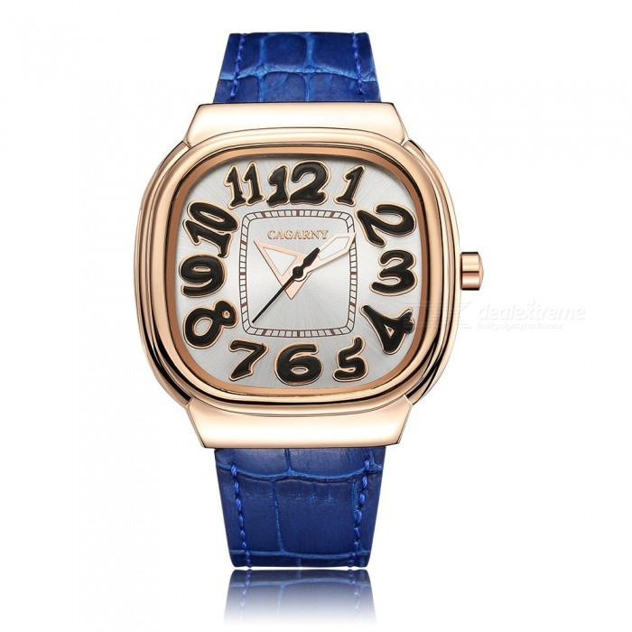 CAGARNY 6870 Fashion Large Dial Womens Quartz Watch - BlueQuartz Watches<br>Form  ColorBlue + GoldenModel6870Quantity1 DX.PCM.Model.AttributeModel.UnitShade Of ColorBlueCasing MaterialAlloyWristband MaterialLeatherSuitable forAdultsGenderWomenStyleWrist WatchTypeFashion watchesDisplayAnalogBacklightNOMovementQuartzDisplay Format12 hour formatWater ResistantFor daily wear. Suitable for everyday use. Wearable while water is being splashed but not under any pressure.Dial Diameter4.5 DX.PCM.Model.AttributeModel.UnitDial Thickness0.98 DX.PCM.Model.AttributeModel.UnitWristband Length24 DX.PCM.Model.AttributeModel.UnitBand Width1.8 DX.PCM.Model.AttributeModel.UnitBatterySR626SW / 1PCPacking List1 x Watch<br>