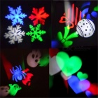 YWXLight Christmas Snowflake Pattern LED projekční světlo (UK Plug)