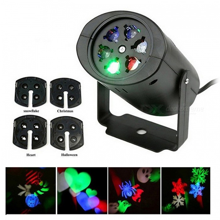 YWXLight Non-Waterproof Snowflake LED Projection Light (US Plug)Stage Lights<br>Form  ColorUS PlugMaterialPCQuantity1 DX.PCM.Model.AttributeModel.UnitShade Of ColorMulti-colorPattern TypeHalloween Patterns;<br>Christmas Patterns;<br>Love Design;<br>Snowflake Pattern;Total Power3 DX.PCM.Model.AttributeModel.UnitPower AdapterUS PlugPowered ByOthersPacking List1 x YWXLight  LED Snowflake Projector Light4 x Cards<br>