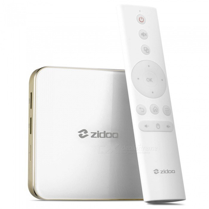 Zidoo H6 Pro AllWinner H6 Quad-core Cortex-A53 Smart TV Box - WhiteSmart TV Players<br>Form  ColorZidoo H6 Pro (White)Built-in Memory / RAM2GBStorage16GBPower AdapterEU PlugModelH6 proQuantity1 DX.PCM.Model.AttributeModel.UnitMaterialplasticShade Of ColorWhiteOperating SystemAndroid 7.0ChipsetAllwinner H6CPUOthers,ARM Cortex-A53Processor FrequencyMax 2GhzGPUMali-T720 MP2Menu LanguageEnglish,French,German,Italian,Spanish,Portuguese,Russian,Japanese,Korean,Chinese Simplified,Chinese TraditionalRAM/Memory TypeOthers,DDR4Max Extended Capacity64GBSupports Card TypeMicroSD (TF)External HDD2TBWi-Fi802.11 b/g/n acBluetooth VersionOthers,V4.13G FunctionNoWireless Keyboard/Mouse2.4GhzAudio FormatsMP3,WMA,APE,FLAC,OGG,AC3,DTS,AACVideo FormatsRM,RMVB,AVI,DIVX,MKV,MOV,HDMOV,MP4,M4V,PMP,AVC,FLV,VOB,MPG,DAT,MPEG,H.264,MPEG1,MPEG2,MPEG4,WMV,TP,CD,VCD,DVD,BD,H.265Audio CodecsDTS,AC3,LPCM,FLAC,HE-AACVideo CodecsMPEG-1,MPEG-2,MPEG-4,H.264,VC-1,H.265Picture FormatsJPEG,BMP,PNG,GIF,TIFF,jps(3D),mpo(3D)Subtitle FormatsMicroDVD [.sub],SubRip [.srt],Sub Station Alpha [.ssa],Sami [.smi]idx+subPGSOutput Resolution4KHDMI2.0Audio OutputHDMI,AVVideo OutputHDMI,AVUSBUSB 2.0,USB 3.0Other InterfaceTF card,USB2.0,USB3.0Power Supply100-240VCompatible ApplicationFacebook,Youtube,Skype,Netflix,XBMC,HuluFirmware Upgradewww.zidoo.tvCertificationCE, FCC, RohsPacking List1 x TV Box1 x Bluetooth Remote Control1 x HDMI Cable1 x Power Adapter1 x English User Manual<br>