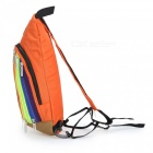 Rainbow Color Cross Body Bag mochila para las mujeres - naranja