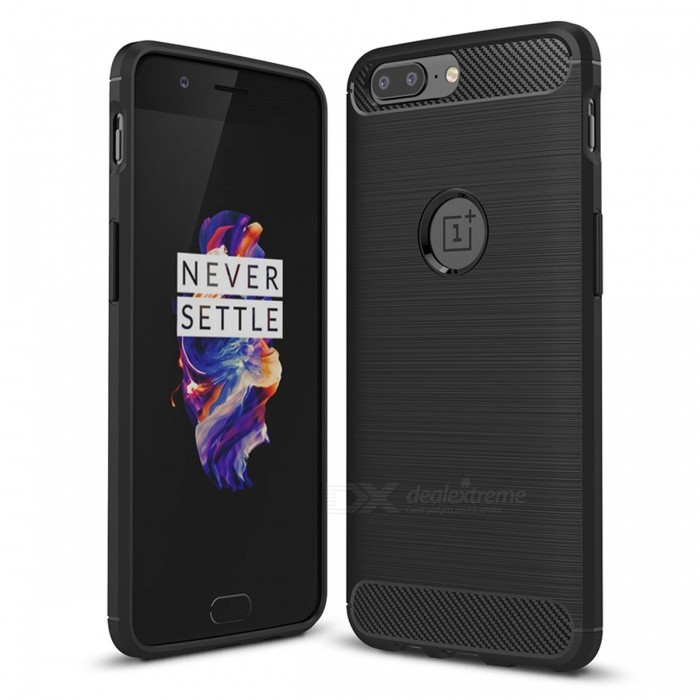 Dayspirit Wire Drawing Carbon Fiber TPU Case for OnePlus 5TPU Cases<br>Form  ColorBlackModelN/AMaterialTPUQuantity1 pieceShade Of ColorBlackCompatible ModelsOnePlus 5Packing List1 x Case<br>