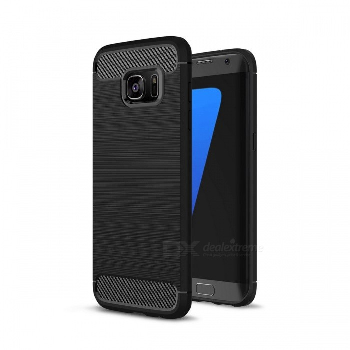 Dayspirit Carbon Fiber TPU Case for Samsung Galaxy S7 EdgeTPU Cases<br>Form  ColorBlackModelN/AMaterialTPUQuantity1 pieceShade Of ColorBlackCompatible ModelsSamsung Galaxy S7 edgePacking List1 x Case<br>
