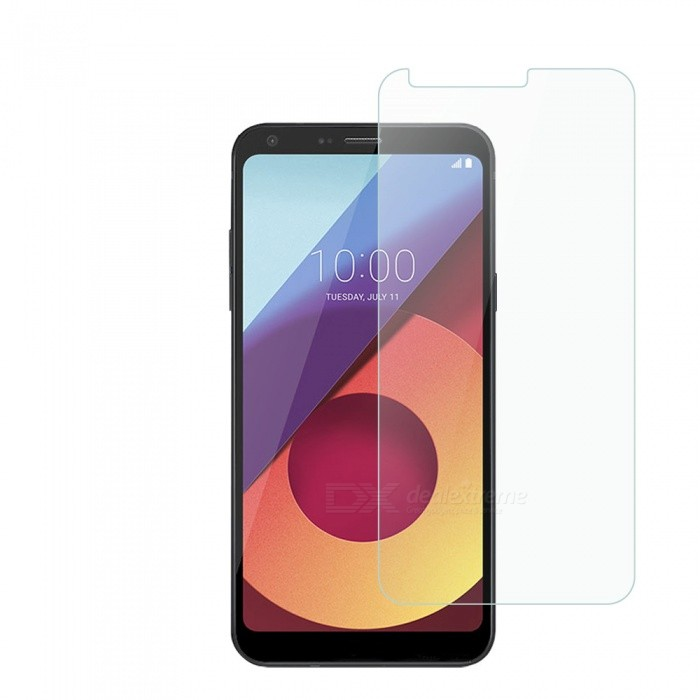 Dayspirit Tempered Glass Screen Protector Film for LG Q6Screen Protectors<br>Form  ColorTransparentScreen TypeGlossyModelN/AMaterialTempered glassQuantity1 pieceCompatible ModelsLG Q6Features2.5D,Tempered glassPacking List1 x Tempered glass screen protector1 x Dust cleaning film 1 x Alcohol prep pad<br>