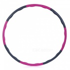 8-Section 95cm Wave Shaped Adult Detachable Fitness Hoop - Pink, Gray