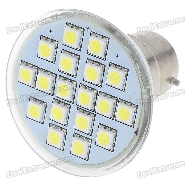 B22 3W 18-SMD 5050 LED White Light Bulb (220V)