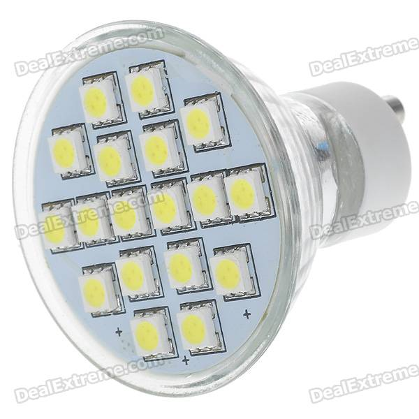 GU10 3W White Light 18*SMD 5050 LED Cup Bulb (220V)