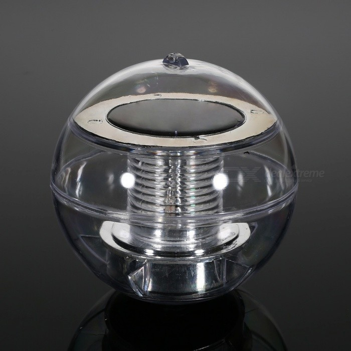 Outdoor Solar Powered IP65 LED Floating Ball Lamp Color Changing LightSolar Lamps<br>Form  ColorTransparent + SilverMaterialABSQuantity1 DX.PCM.Model.AttributeModel.UnitPower3 DX.PCM.Model.AttributeModel.UnitWorking Voltage   1.2 DX.PCM.Model.AttributeModel.UnitWorking Current60 DX.PCM.Model.AttributeModel.UnitBattery Capacity600 DX.PCM.Model.AttributeModel.UnitBattery Charging Time8hrWorking Time6-8 DX.PCM.Model.AttributeModel.UnitPacking List1 x Solar ball lamp<br>