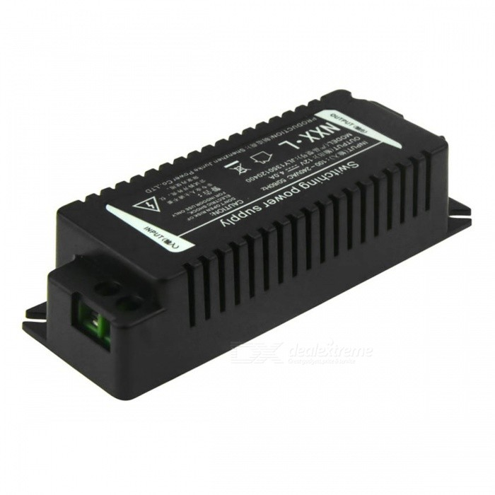 IN-COLOR 12V 4A Regulated Switching Power Supply Adapter (AC 100~240V)Switching Power Supply<br>PowerOthersForm  ColorBlackMaterialPlasticQuantity1 pieceRated Current4 ARate Voltage12VWorking Temperature-10~60 ?Working Humidity20%~80%Power AdaptornoPower AdapterOthers,NOProtectionOver-load protection,Short protectionCooling MethodNatural coolingWater-proofNoPacking List1 x Switching power adapter (AC 100~240V / 12V 4A)<br>