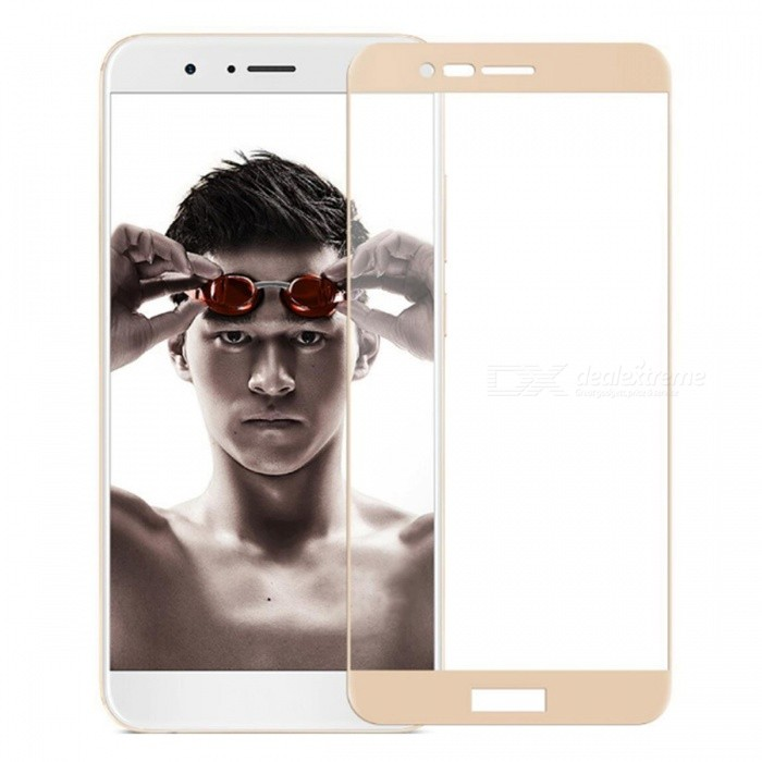 Naxtop Tempered Glass Screen Protector for Huawei Honor V9 - GoldenScreen Protectors<br>Form  ColorGoldenScreen TypeGlossyModelN/AMaterialTempered GlassQuantity1 pieceCompatible ModelsHuawei Honor V9Features2.5D,Fingerprint-proof,Scratch-proof,Tempered glassPacking List1 x Tempered glass film1 x Wet wipe1 x Dry wipe1 x Dust absorber<br>