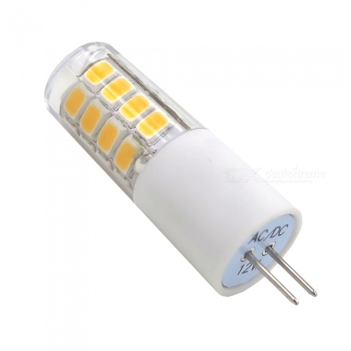 SZFC G4 3W AC/DC-12V Warm White 3000K Ceramic LED BulbG4<br>Color BINWarm WhiteModelG4-26L-WWMaterialCeramicForm  ColorWhiteQuantity1 setPower3WRated VoltageOthers,AC/DC-12V VConnector TypeG4Chip Type2835SMDEmitter TypeLEDTotal Emitters26Actual Lumens150-300 lumensColor Temperature3000KDimmableNoBeam Angle360 °Packing List1 x LED Bulb<br>