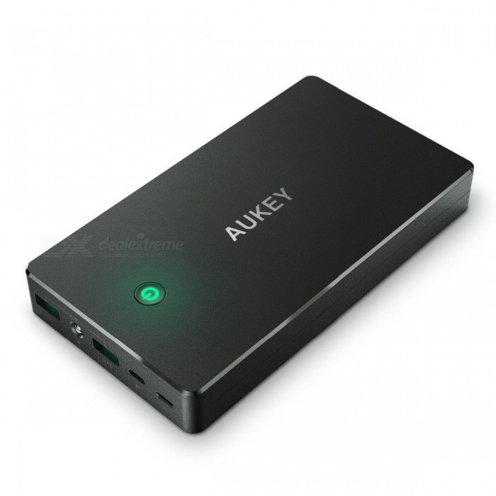 AUKEY PB-N36 20000mah External Battery Power Bank Dual USB - BlackMobile Power<br>Form  ColorBlackModelPB-N36Quantity1 setMaterialABS + PC flame retardant materialShade Of ColorBlackCompatible ModelsOthers,UniversalCompatible TypeUniversalBattery TypeLi-polymer batteryBuilt-in Battery Model18650Voltage5 VCapacity Range15000mAh~20000mAhNominal Capacity20000 mAhInputLightning Input: 5V 2A<br>Micro-USB Input: 5V 2AOutput interface, output current, output voltage5V 2.4A / Port  ( 4.8A Max)FeaturesFlashlightCertificationFCC,CE,RoHSPacking List1 x PB-N36 20000mAh Power Bank 1 x Micro USB Cable (20cm) 1 x Instruction Manual<br>