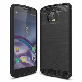 Dayspirit Wire Drawing Carbon Fiber TPU Case for Moto E4 Plus