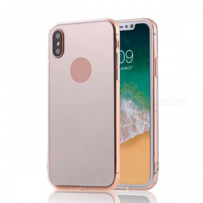 Mini Smile Protective TPU PC Mirror Back Case for IPHONE X - SilverTPU Cases<br>Form  ColorSilverModelI8-MQuantity1 DX.PCM.Model.AttributeModel.UnitMaterialOthers,TPU + PCCompatible ModelsOthers,IPHONE XDesignSolid Color,Transparent,Others,MirrorStyleBack CasesPacking List1 x Back case<br>