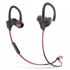 S2 Anti-sweat Sports Wireless 4.1 Bluetooth Earphone with Mic - Red