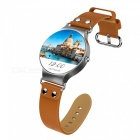 JSBP KW98 Android Smart Watch w/ Heart Rate Monitoring/8GB/GPS - Brown