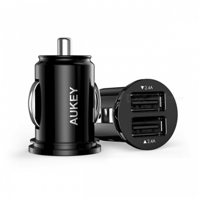 AUKEY CC-S1 4.8A USB Car Charger w/ Dual USB Port - Black