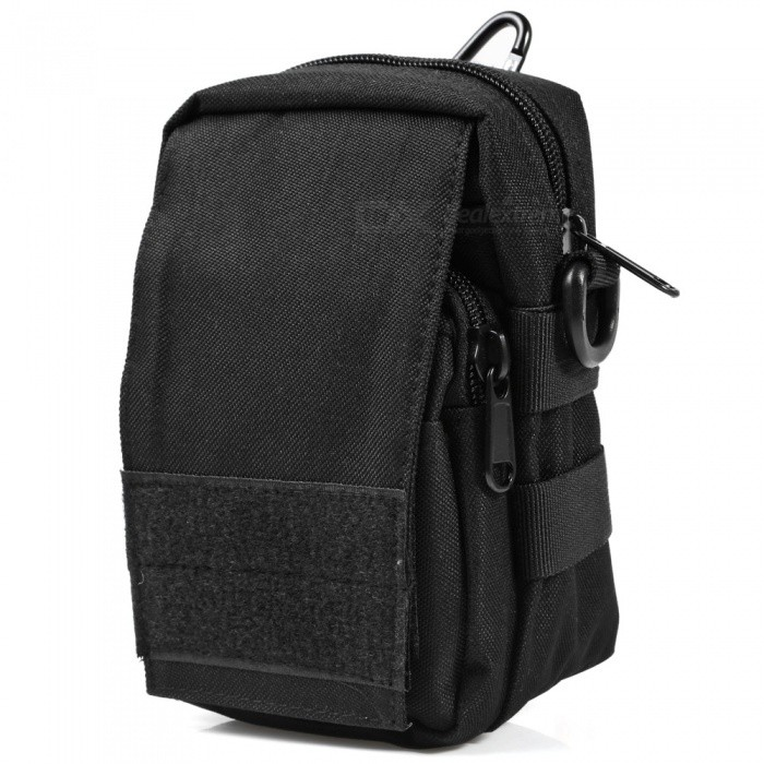 Multi-Functional Outdoor Tactic Small Pocket - BlackBike Bags<br>Form  ColorBlackQuantity1 pieceMaterialNylonTypeOthersCapacity1-10 LWaterproofNoBest UseMountain Cycling,Recreational Cycling,Road Cycling,Bike commuting &amp; touring,OthersPacking List1 x Tactical Waist Pack<br>