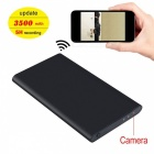 Ultra-Thin 3500mAh Power Bank med HD 1080P Hidden Wi-Fi-kamera