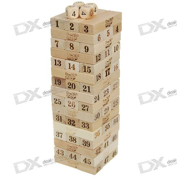 Wooden Tower (Set of 51 Numbered Pieces)