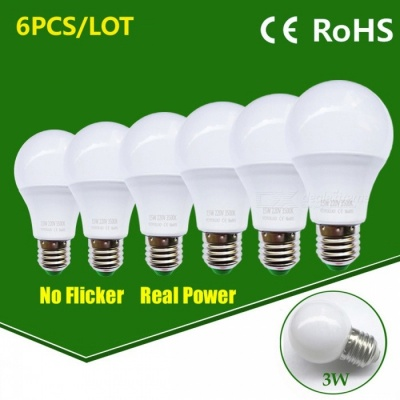 LED Bulb Lamp E27 15W High Brightness Light Bulb - Warm White / 6PCS