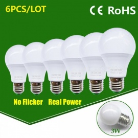 LED Bulb Lamp E27 3W High Brightness Light Bulb - Warm White / 6PCS