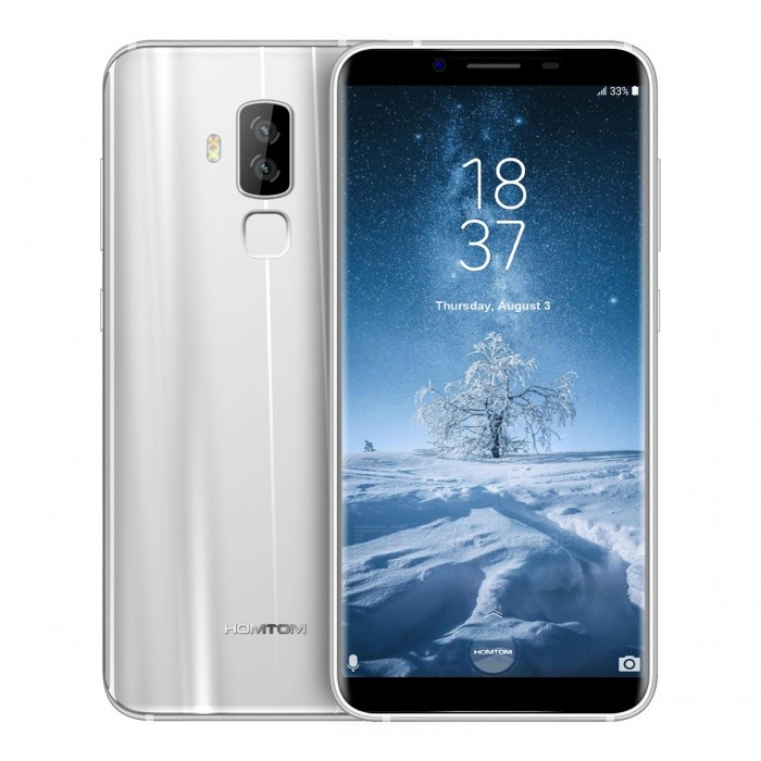 HOMTOM S8 Android 7.0 4G Phone with 4GB, 64GB - SliverAndroid Phones<br>Form  ColorSilverRAM4GBROM64GBBrandOthers,HOMTOMModelS8Quantity1 pieceMaterialPlasticShade Of ColorSilverTypeBrand NewPower AdapterEU PlugHousing Case MaterialplasticTime of Release2017-08-28Network Type2G,3G,4GBand Details2G:GSM850/900/1800/1900MHz,3G:WCDMA900/2100MHz,4G:FDD-LTE B1(2100)\B3(1800)\B7(2600)\B20(800)MHzData TransferGPRS,HSDPA,EDGE,LTEWLAN Wi-Fi 802.11 b,g,nSIM Card TypeMicro SIM,Nano SIMSIM Card Quantity2Network StandbyDual Network StandbyGPSYes,A-GPSNFCNoInfrared PortYesBluetooth VersionBluetooth V4.0Operating SystemAndroid 7.xCPU ProcessorMTK6750T 1.5GHzCPU Core QuantityOcta-CoreGPUMali-T860LanguageArabic(Egypt)/Chinese Simplified /Chinese Tradition/Chinese/Dutch (Netherlands)/English/French/German/Italian/Portuguese/Spanish/Bengali/Croatian/Czech/Danish/Greek/Hebrew/Hindi/Hungarian/Indonesian/Japanese/Korean/Malay/Perisan/Polish/Romanian/Russian/Serbian/Swedish/Thai/Turkey/Urdu/Vietnamese/Catalan/Latviesu/Lithuanian/Norwegian/slovencina/Slovenian/bulgarian/Ukrainian/Filipino/Finnish/Burmese(Paduak)/Khmer/Estonian/Armenian/KazakhAvailable Memory55GBMemory CardYesMax. Expansion Supported128GBSize Range5.5 inches &amp; OverTouch Screen TypeIPSScreen ResolutionOthers,720*1440Multitouch5Screen Size ( inches)5.7Screen Edge2.5D Curved EdgeCamera PixelOthers,16MP+5.0MPFront Camera Pixels13 MPFlashYesTouch FocusYesTalk Time15 hoursStandby Time360 hoursBattery Capacity3400 mAhBattery ModeNon-removableQuick Charge5V/2AfeaturesWi-Fi,GPS,FM,Bluetooth,OTGSensorG-sensor,Proximity,Others,Range sensor /photosensor /gyroscopeWaterproof LevelIPX0 (Not Protected)Dust-proof LevelNoShock-proofNoI/O InterfaceMicro USB,3.5mm,SIM SlotSoftwarePlay Store, E-mail, Calculator, File manager, Clock, Calendar, Gallery, Video Player, Music, Sound Recorder, FM Radio, etc.Format SupportedMP3/AAC/AAC+/eAAC+/WMA/RA/MP4/3GP/3GPP/RM/RMVB/AVI/WMV/MOVRadio TunerFMWireless ChargingNoReference Websites== Will this mobil