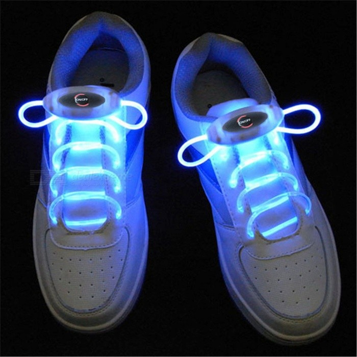 YWXLight Blue 80cm Flash Light Glow LED Sport Shoe LacesLED Nightlights<br>Form  ColorBlueMaterialPCQuantity1 DX.PCM.Model.AttributeModel.UnitPower2WRated VoltageOthers,5 DX.PCM.Model.AttributeModel.UnitConnector TypeOthersColor BINBlueEmitter TypeLEDTotal Emitters1Theoretical Lumens200-300 DX.PCM.Model.AttributeModel.UnitActual Lumens100-200 DX.PCM.Model.AttributeModel.UnitColor Temperature12000K,OthersDimmableYesInstallation TypeOthersPacking List1 Pair x YWXLight Shoelaces<br>