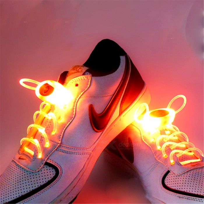 YWXLight Orange 80cm Flash Light Glow LED Sport Shoe LacesLED Nightlights<br>Form  ColorOrangeMaterialPCQuantity1 DX.PCM.Model.AttributeModel.UnitPower2WRated VoltageOthers,5 DX.PCM.Model.AttributeModel.UnitConnector TypeOthersColor BINOrangeEmitter TypeLEDTotal Emitters1Theoretical Lumens200-300 DX.PCM.Model.AttributeModel.UnitActual Lumens100-200 DX.PCM.Model.AttributeModel.UnitColor Temperature12000K,OthersDimmableYesInstallation TypeOthersPacking List1 Pair x YWXLight Shoelaces<br>
