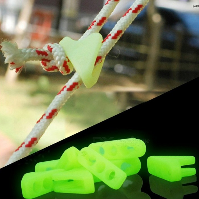 Adjustable Large Luminous Tents Triangle Rope Buckle Fastener (10 PCS)