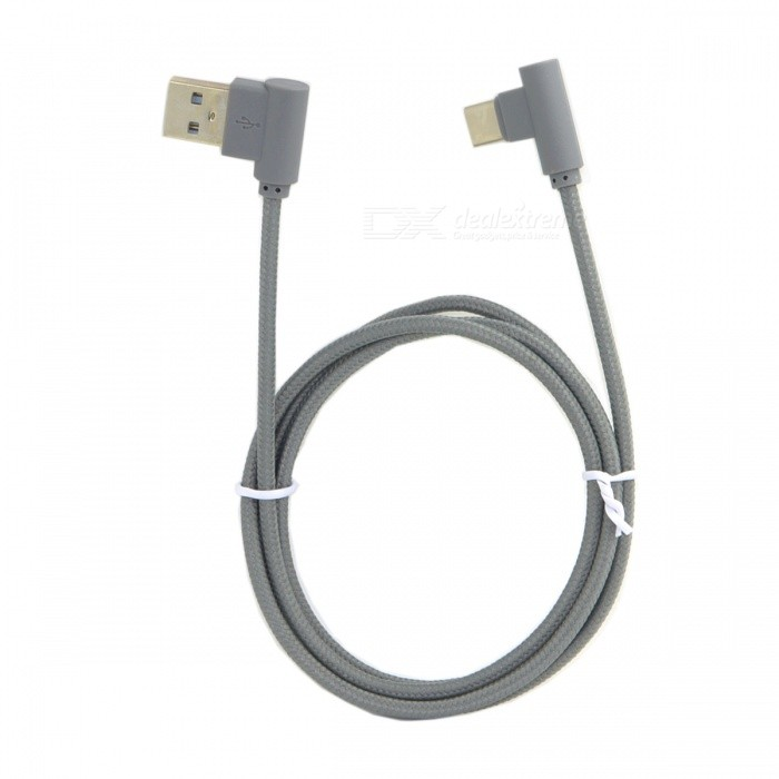 CY UC-039-LE USB3.1 Type-C to Left Angled 90 Degree USB 2.0 Data CableLaptop/Tablet Cable&amp;Adapters<br>Form  ColorGreyModelUC-039-LEQuantity1 DX.PCM.Model.AttributeModel.UnitShade Of ColorGrayMaterialPVC, NylonInterfaceUSB 2.0,Others,Type-CPacking List1 x Data Cable<br>