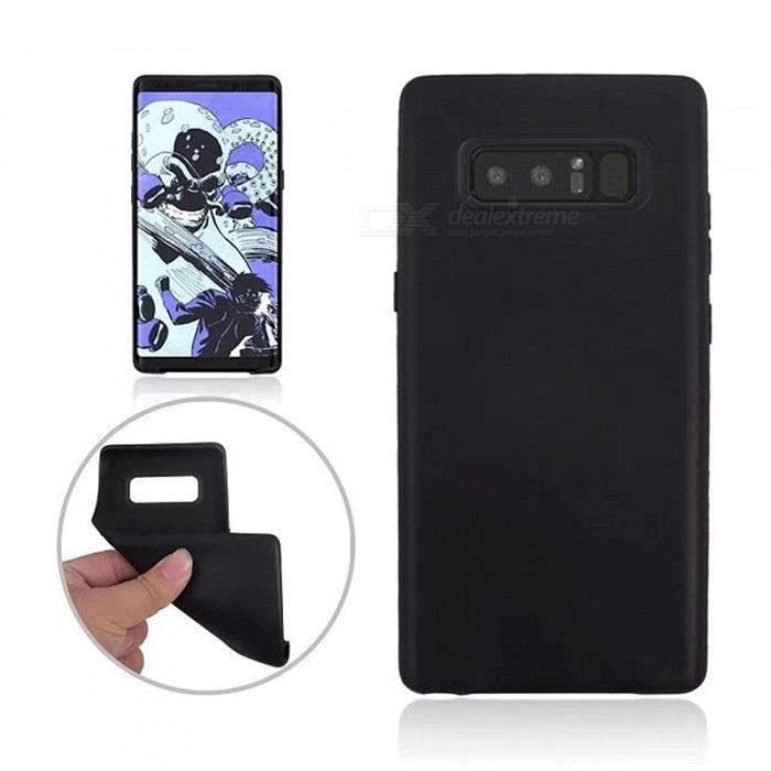 TPU Protective Back Case Cover for Samsung GALAXY Note 8 - BlackTPU Cases<br>Form  ColorBlackQuantity1 DX.PCM.Model.AttributeModel.UnitMaterialTPUShade Of ColorBlackCompatible ModelsSamsung GALAXY Note 8DesignSolid ColorStyleBack CasesPacking List1 x Case<br>