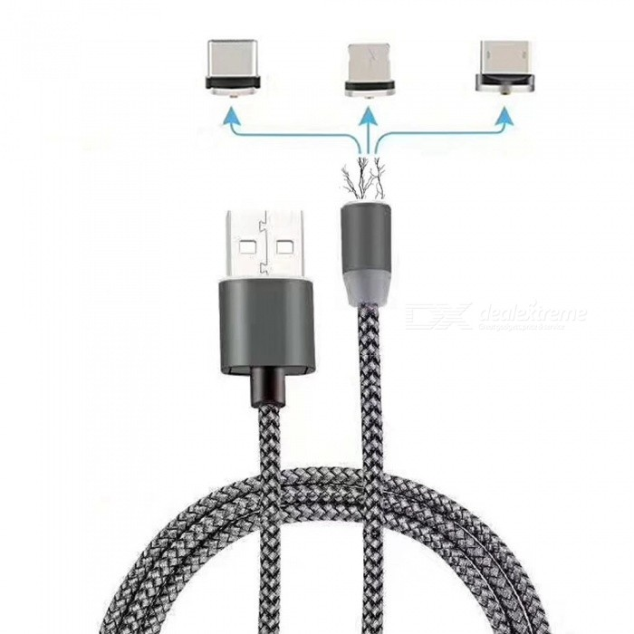 Cwxuan 3-in-1 Micro USB, Typ-C, 8 Pin Magnetische Ladekabel Kit